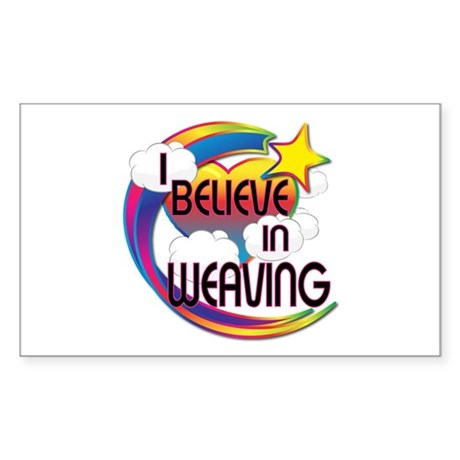 I Believe In Weaving Cute Believer Design Sticker