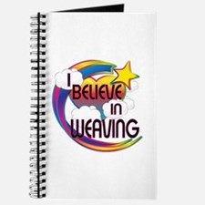 I Believe In Weaving Cute Believer Design Journal