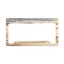 Wood Texture License Plate Holder