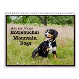 Entlebucher mountain dog Wall Calendars