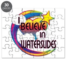 I Believe In Waterslides Cute Believer Design Puzz