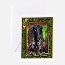Afghan Hound Dog Christmas Greeting Cards