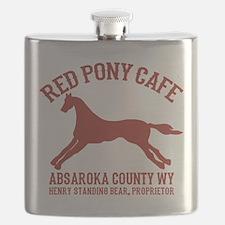 Longmire Red Pony Flask