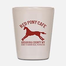 Longmire Red Pony Shot Glass