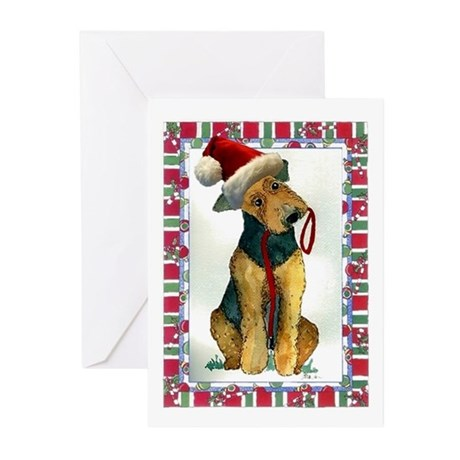 Airedale Terrier Dog Christmas Greeting Cards