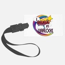 I Believe In Warlocks Cute Believer Design Luggage Tag