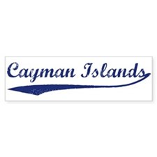 Blue Vintage: Cayman Islands Bumper Bumper Sticker