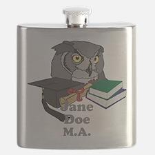 Custom Owl Graduate Flask