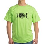 Triple Goddess Moons Green T-Shirt