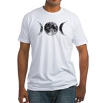Triple Goddess Moons Fitted T-Shirt