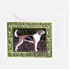 American Foxhound Dog Christmas Greeting Cards