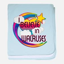 I Believe In Walruses Cute Believer Design baby bl