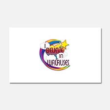 I Believe In Walruses Cute Believer Design Car Mag