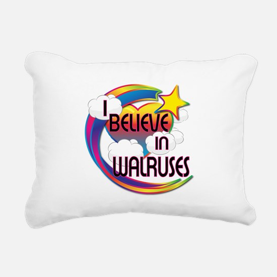 I Believe In Walruses Cute Believer Design Rectang