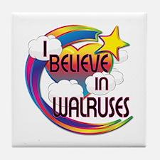 I Believe In Walruses Cute Believer Design Tile Co