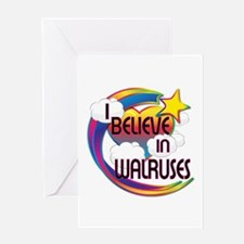 I Believe In Walruses Cute Believer Design Greetin