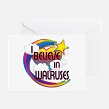 I Believe In Walruses Cute Believer Design Greetin