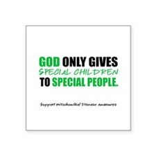 """God Only Gives (Mito Awareness) Square Sticker 3"""""""