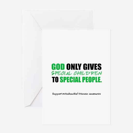 God Only Gives (Mito Awareness) Greeting Card