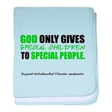 God Only Gives (Mito Awareness) baby blanket