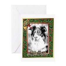 Australian Shepherd Christmas Greeting Cards