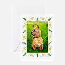 Australian Terrier Dog Christmas Greeting Cards