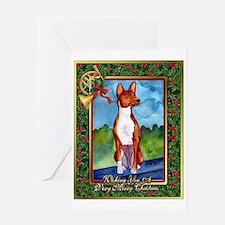 Basenji Dog Christmas Greeting Cards