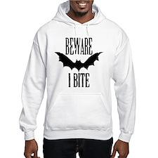 Beware I Bite black Hoodie