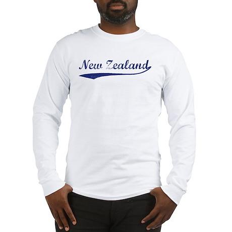Blue Vintage: New Zealand Long Sleeve T-Shirt