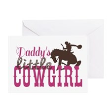 Daddys Little Cowgirl Greeting Cards