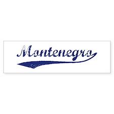 Blue Vintage: Montenegro Bumper Bumper Sticker