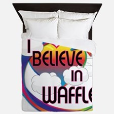 I Believe In Waffles Cute Believer Design Queen Du