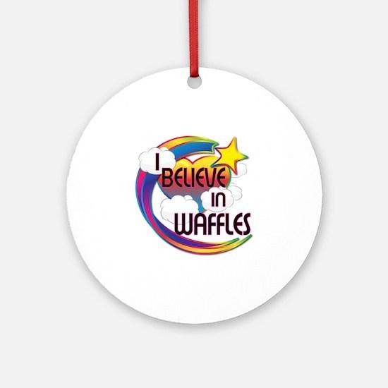I Believe In Waffles Cute Believer Design Ornament