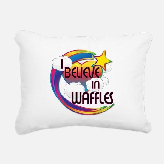 I Believe In Waffles Cute Believer Design Rectangu