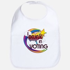 I Believe In Voting Cute Believer Design Bib