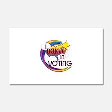 I Believe In Voting Cute Believer Design Car Magne