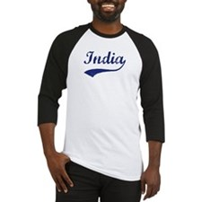 Blue Vintage: India Baseball Jersey