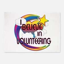 I Believe In Volunteering Cute Believer Design 5'x