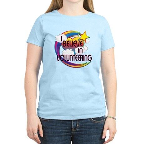 I Believe In Volunteering Cute Believer Design Wom