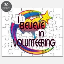 I Believe In Volunteering Cute Believer Design Puz