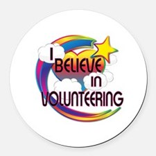 I Believe In Volunteering Cute Believer Design Rou