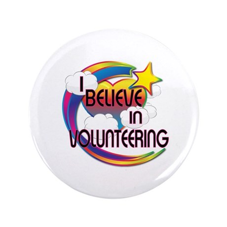 I Believe In Volunteering Cute Believer Design 3.5