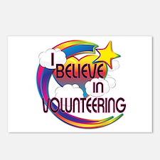 I Believe In Volunteering Cute Believer Design Pos