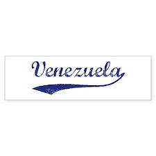 Blue Vintage: Venezuela Bumper Bumper Sticker