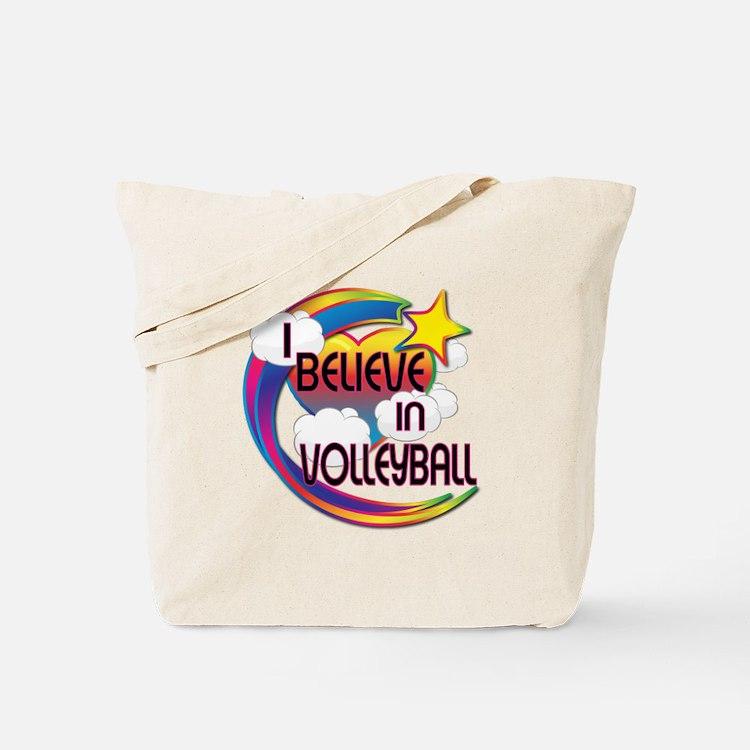 I Believe In Volleyball Cute Believer Design Tote