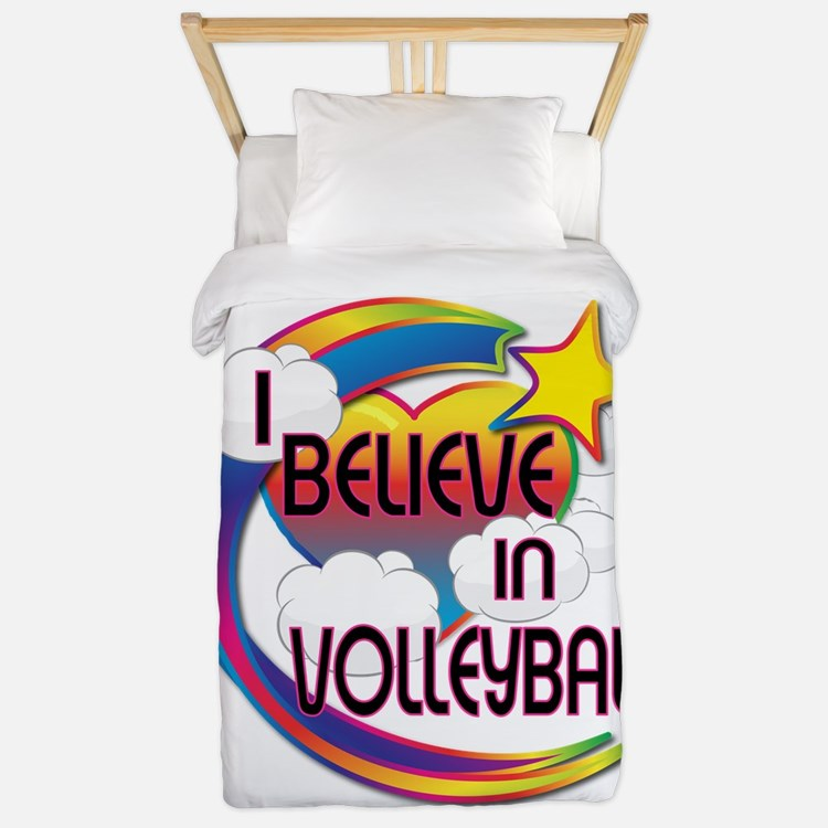I Believe In Volleyball Cute Believer Design Twin