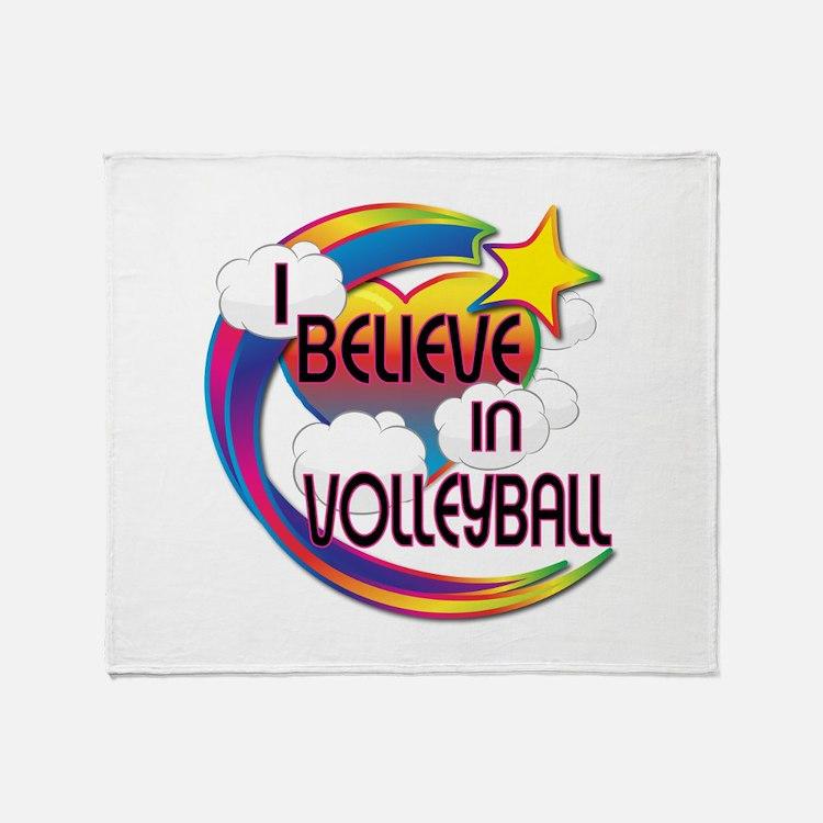 I Believe In Volleyball Cute Believer Design Throw