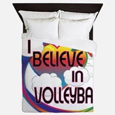 I Believe In Volleyball Cute Believer Design Queen