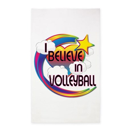 I Believe In Volleyball Cute Believer Design 3'x5'