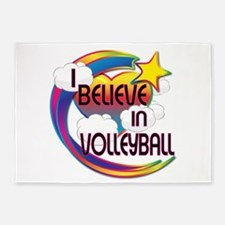 I Believe In Volleyball Cute Believer Design 5'x7'